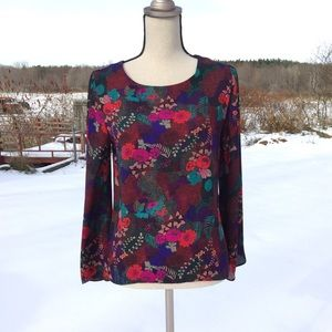 Violet & Claire Floral Print Bell Sleeved Blouse